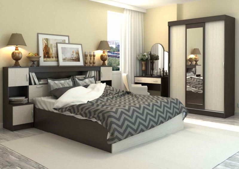 спальня цвета венге (51)