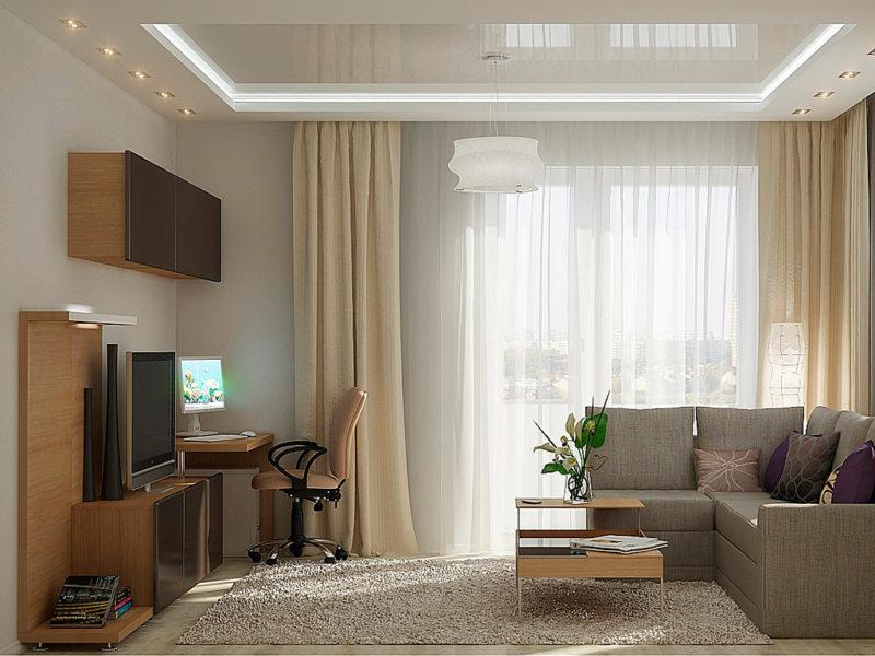 узкая гостиная (31)