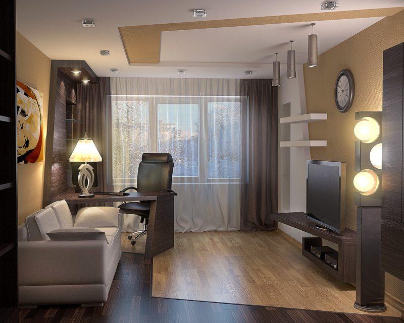 узкая гостиная (52)