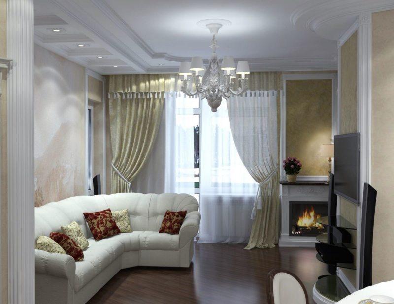 узкая гостиная (53)