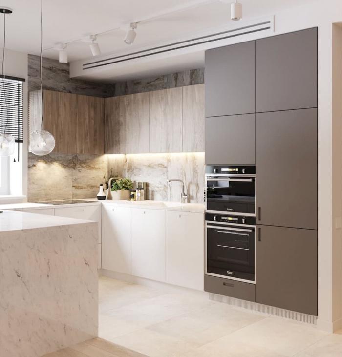 дизайн кухни 2018 года обзор лучших решений для интерьера 130 фото