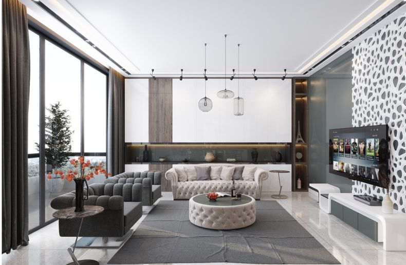 Дизайн квартир 2018 года (67)