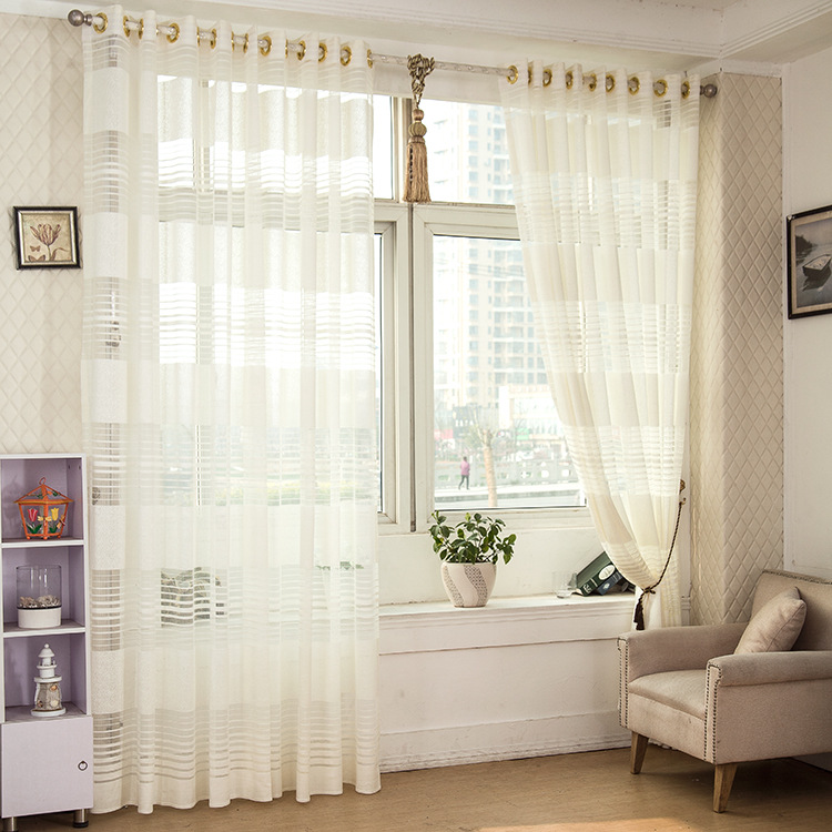 1-Piece-Striped-White-Sheer-font-b-Curtain-b-font-For-Living-Room-Tulle-font-b