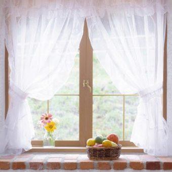 Оригинальные кухонные шторы своими руками (100+ фото)