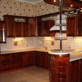 Правильное планирование кухни на левую сторону