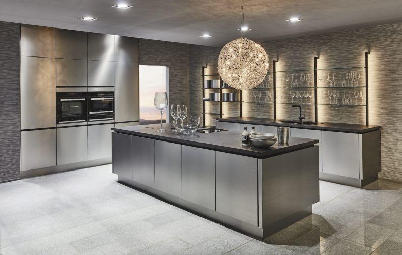 дизайн кухни металл фото