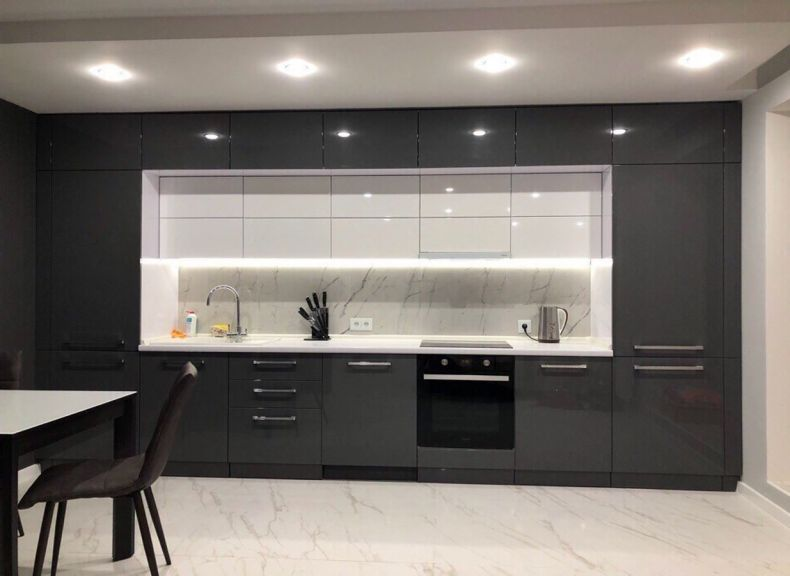 кухня трехуровневый гарнитур фото