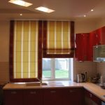 римские шторы кухня