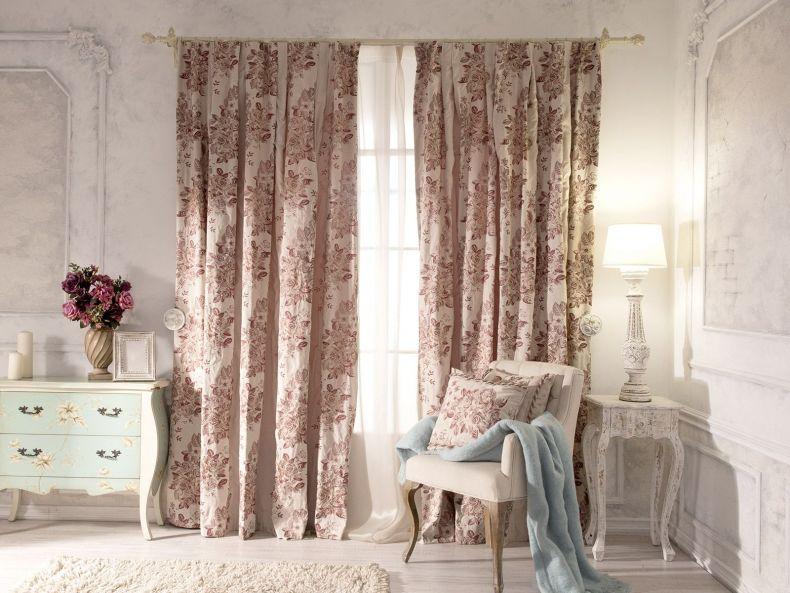 хлопковые шторы в гостиной фото