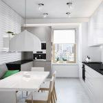белый цвет кухня минимализм