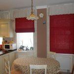 шторы на кухню римские фото