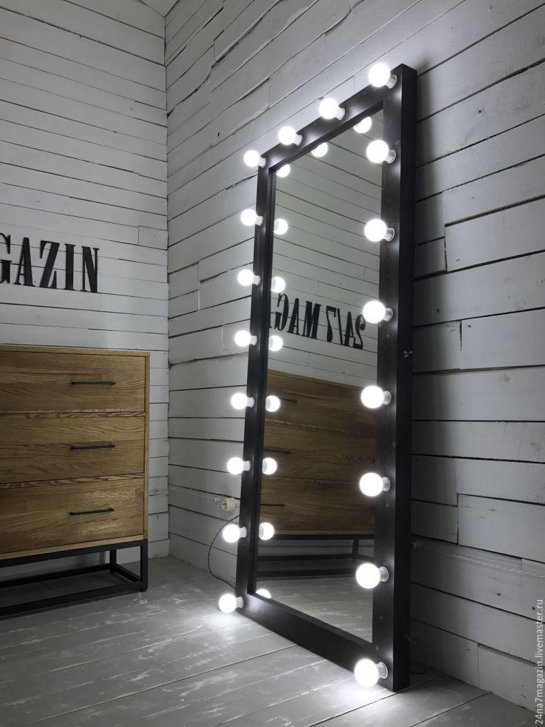зеркало для визажа в коридоре освещение фото