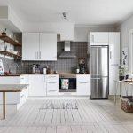 современный дизайн кухни в белом цвете фото