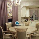 классические шторы на кухню