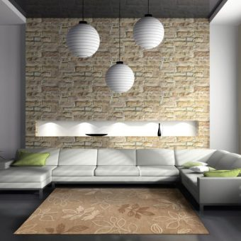 оформление стен декоративным камнем