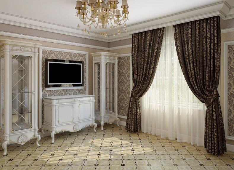 шторы из полиэстера в гостиную