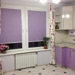 римские шторы на кухню фиолетовые фото