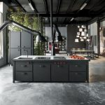 кухня из металла фото