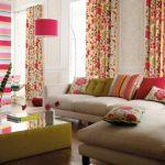 яркие шторы для гостиной как выбрать