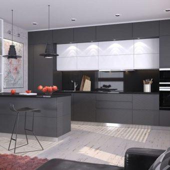 кухня в стиле хай-тек фото