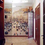 фотобои город в коридоре