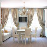 как выбрать классические шторы на кухню