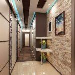 обои фактурные в узкий коридор