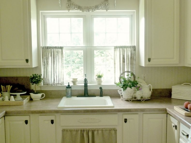 шторы-кафе для кухни фото