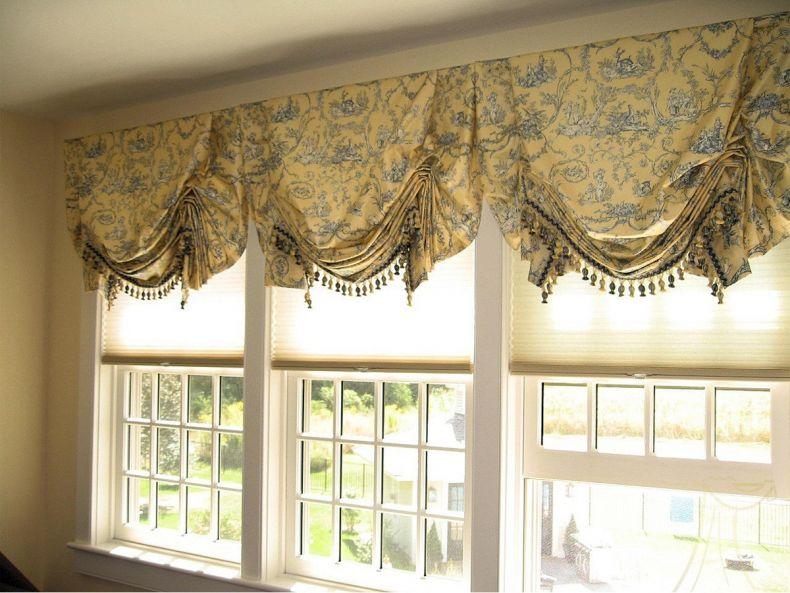 английские шторы на кухню