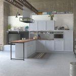 металлическая кухня фото
