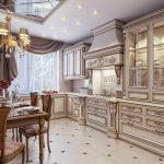 шторы на кухне классические