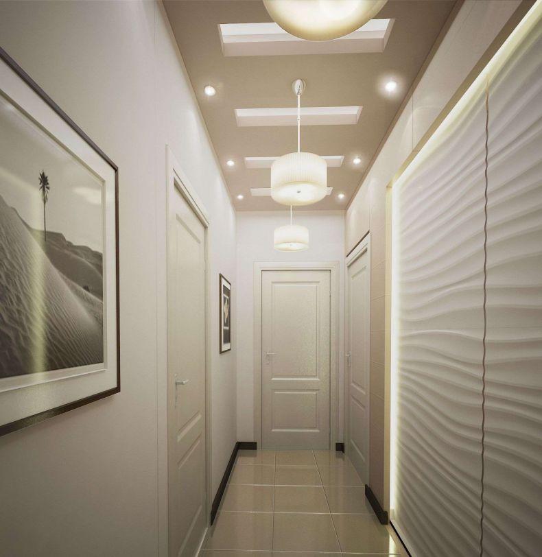 освещение маленького коридора фото