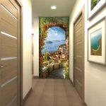 природа фотообои в узком коридоре