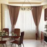 шторы на кухне фото классика