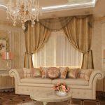 выбор штор в гостиную