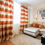 полосатые шторы в гостиную
