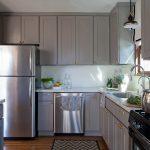 кухня серый цвет фото