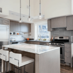серый цвет кухня фото