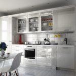 кухонный гарнитур в белом цвете