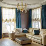 шторы в гостиную в цвет обивки фото