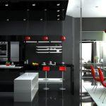 кухня хайт-тек фото металл