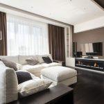 коричневые шторы гостиная