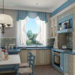шторы короткие на кухню