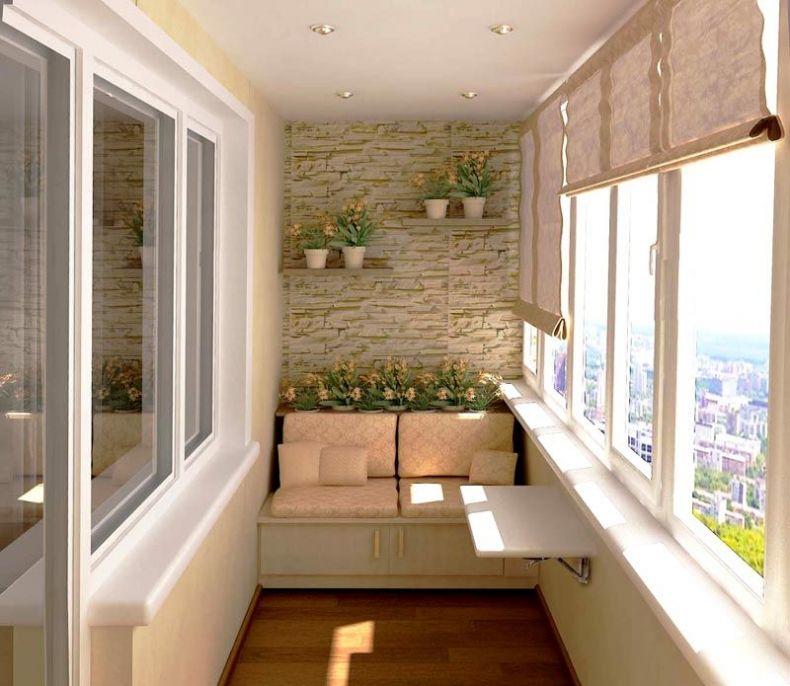 Отделка балкона внутри:  выбор материала и оригинальные фото-идеи