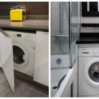 Размещение стиральной машины в интерьере